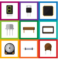 Flat icon appliance set of resistor resist vector