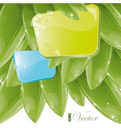 foliage background vector image vector image