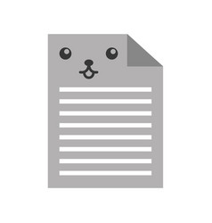 Kawaii document cartoon vector