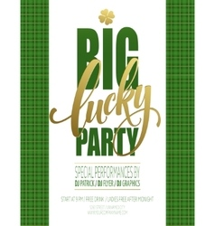 Lucky Party Poster St Patricks Day vector image