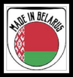 Made in Belarus sign vector image