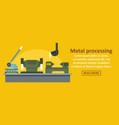 Metal processing factory banner horizontal concept vector