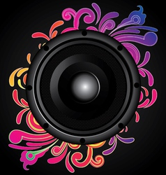 my speaker with flower behind vector image