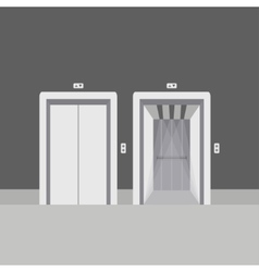 Open and close elevator doors vector image