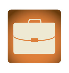 orange emblem suitcase icon vector image