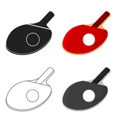 Ping-pong icon cartoon single sport icon from the vector