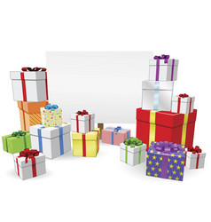 presents and sign concept vector image vector image