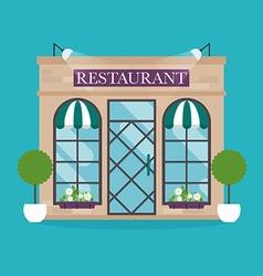 Restaurant building facade icons ideal vector