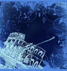 rome coliseum background vector image