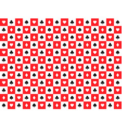 seamless abstract poker background with playing vector image vector image