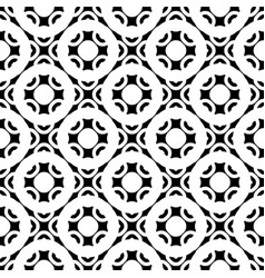 Seamless texture black white geometric figures vector
