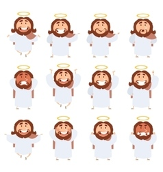 Set of Jesus icons vector image vector image