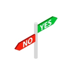 Sign yes no icon isometric 3d style vector image vector image