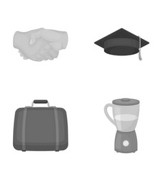 Traveling learning and other monochrome icon in vector