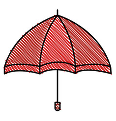 umbrella open isolated icon vector image
