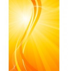 vector bright orange background vector image