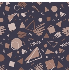 Vintage seamless geometric pattern vector