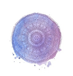 Watercolor mandala isolated element vector