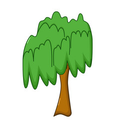 willow tree icon cartoon style vector image vector image