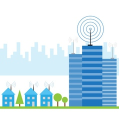 wireless signal of internet vector image