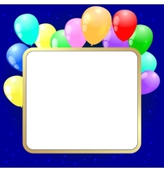 Party background with baloons vector