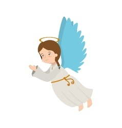 Angel wing halo icon vector