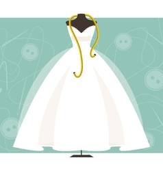 Mannequin with a wedding dress vector image