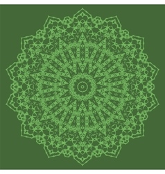 Mandala isolated round ornament vector