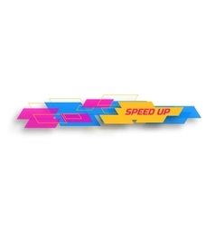 Speed up design concep vector