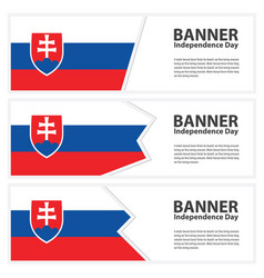 Slovakia flag banners collection independence day vector