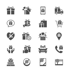 Gift flat icons vector