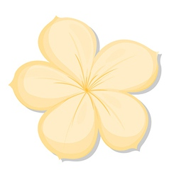 A five-petal yellow flower vector