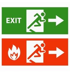 Emergency fire exit door vector