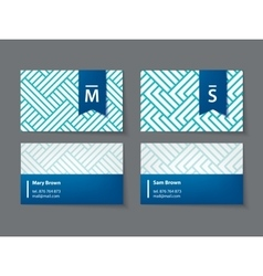 Set of modern business cards vector