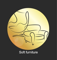 Design for upholstered furniture vector