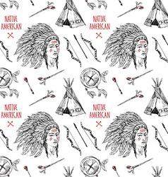 native american vector image