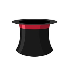 Cylinder magicians on a white background black hat vector