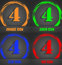 Number four icon sign fashionable modern style in vector