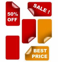 color sale sticker set vector image