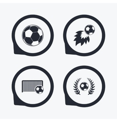 Football icons soccer ball sport vector