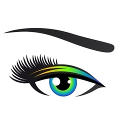 Colorful eye with eyelashes vector