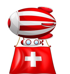 A stripe-colored balloon carrying the switzerland vector
