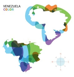 Abstract color map of Venezuela vector image vector image