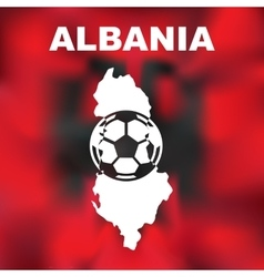 Albanian abstract map vector