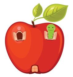 Appleworm vector image vector image