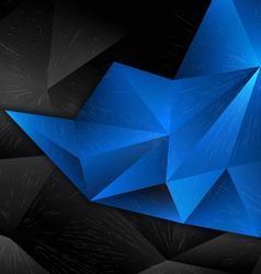 background abstract polygon design blue vector image