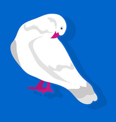 Bird sitting and cleaning vector