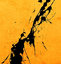 Bright yellow paint splash background vector