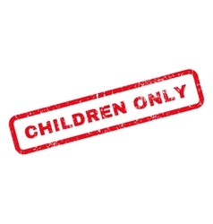 Children only text rubber stamp vector