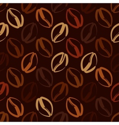 coffee beans seamless pattern vector image